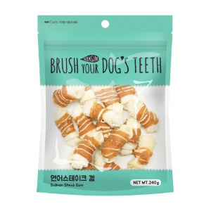 BRUSH YOUR DOG'S TEETH 연어스테이크 껌 15P